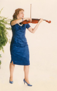 Carolyn Broe Violist in Blue
