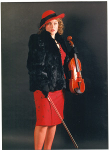 Carolyn Broe Violist in Red