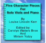 Five Character Pieces By Louise L. Kerr